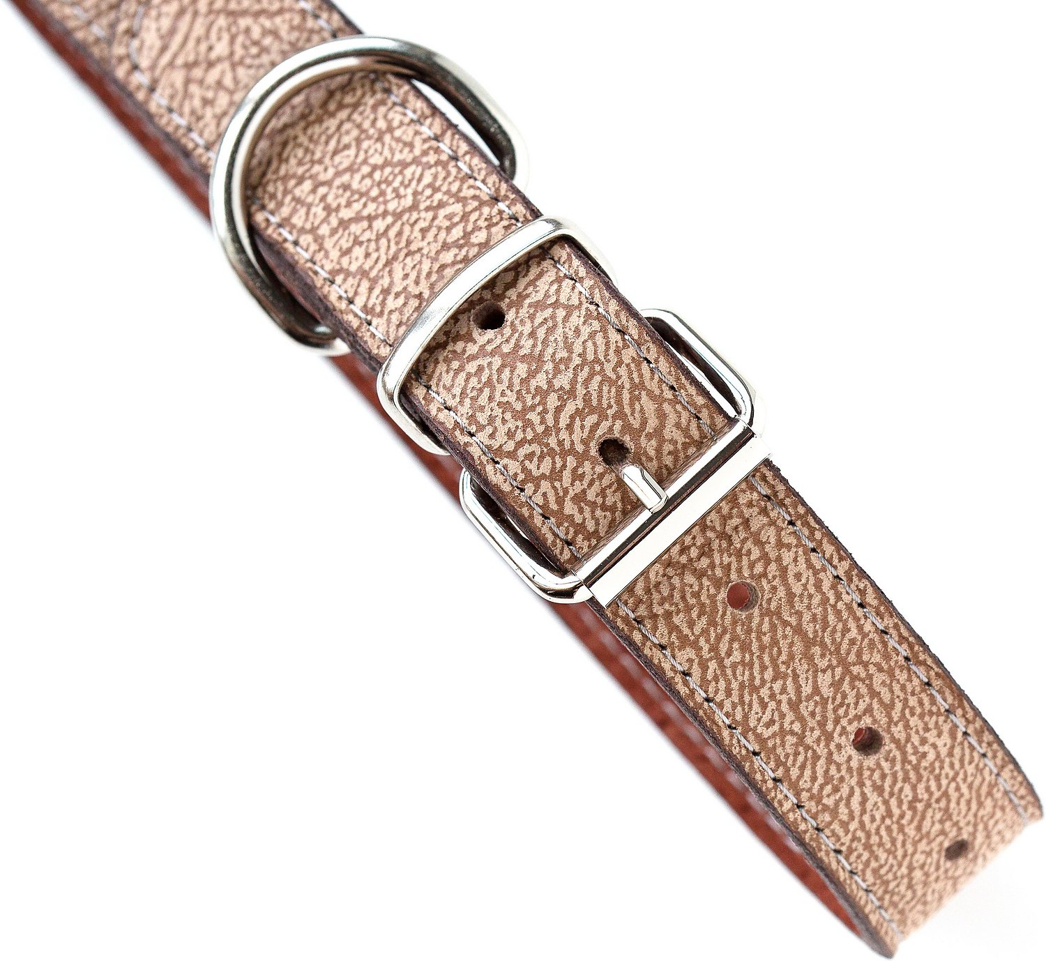 Mighty Paw Leather Dog Leash, Light Brown, Standard images