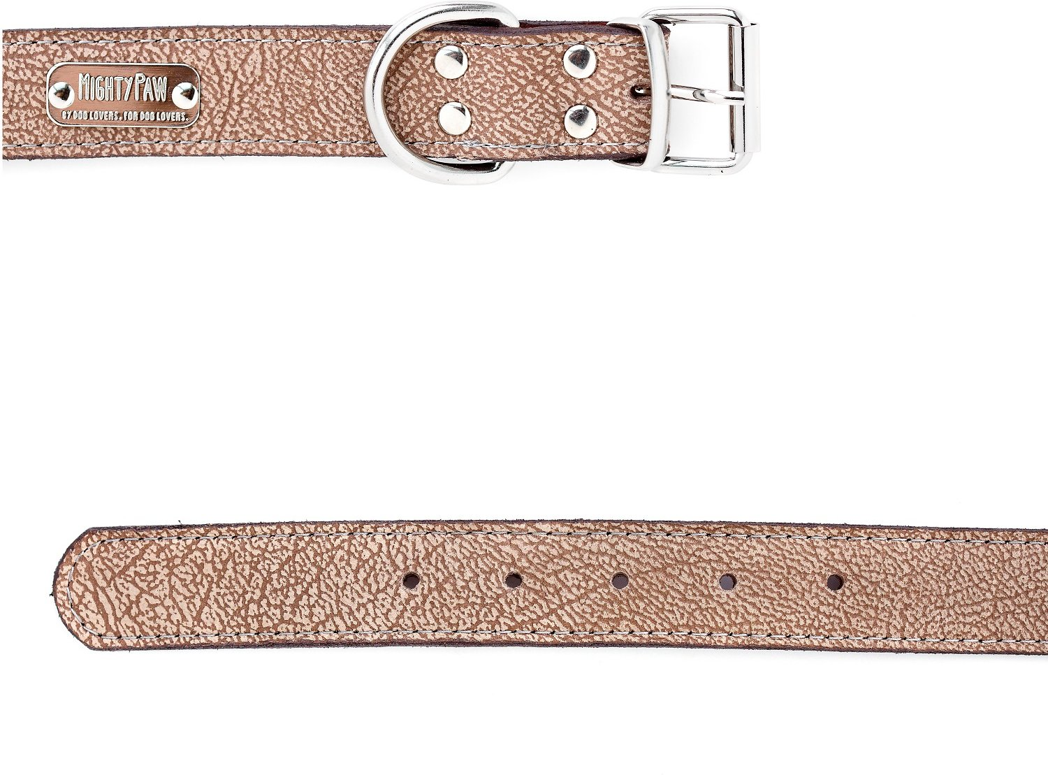 Mighty Paw Leather Dog Leash, Light Brown, Standard Mighty Paw Leather Dog Leash, Light Brown, Standard new foto