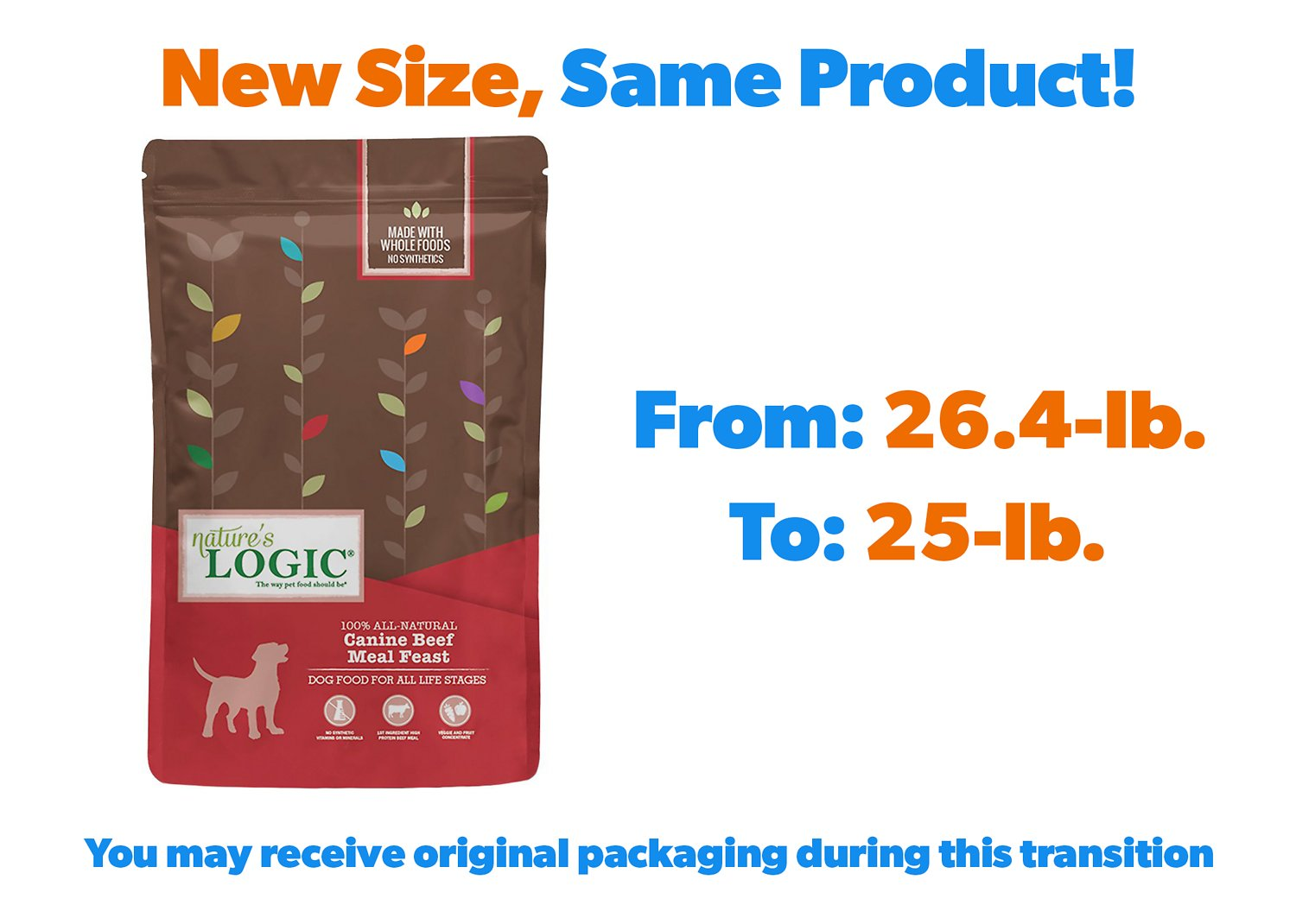 Nature S Logic Canine Beef Meal Feast Dry Dog Food 26 4