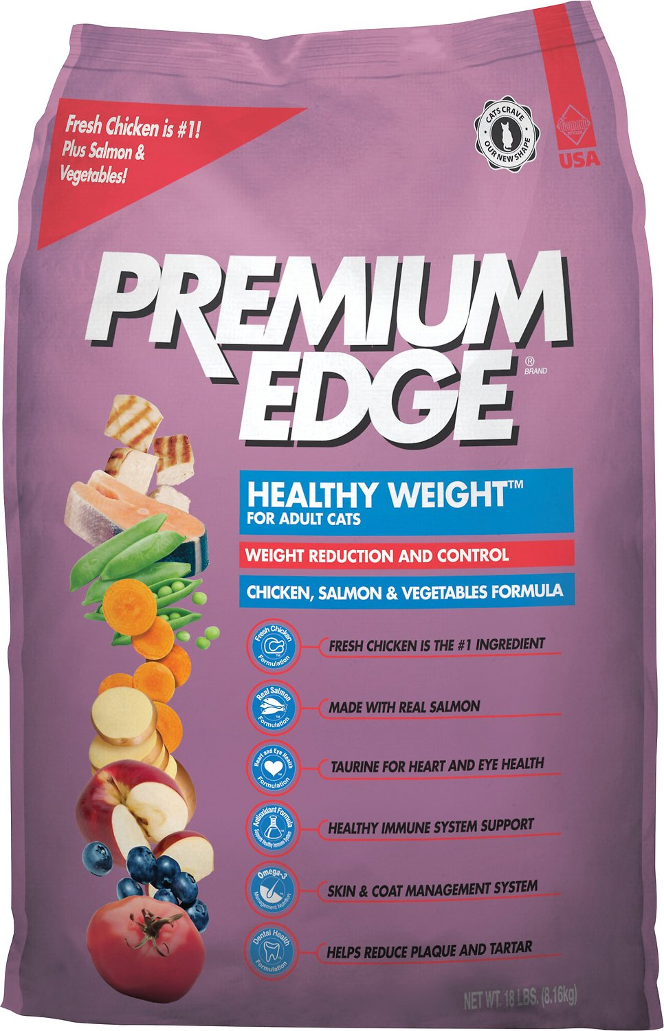 Premium Edge Healthy Weight Reduction Control Formula Dry Cat Food 18 Lb Bag Chewy Com