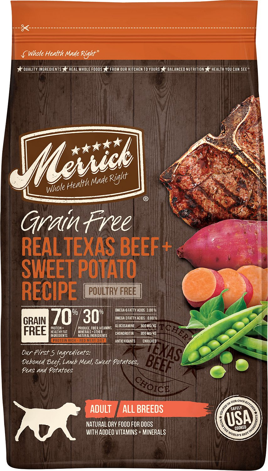 Merrick Texas Beef And Sweet Potato Dog Food