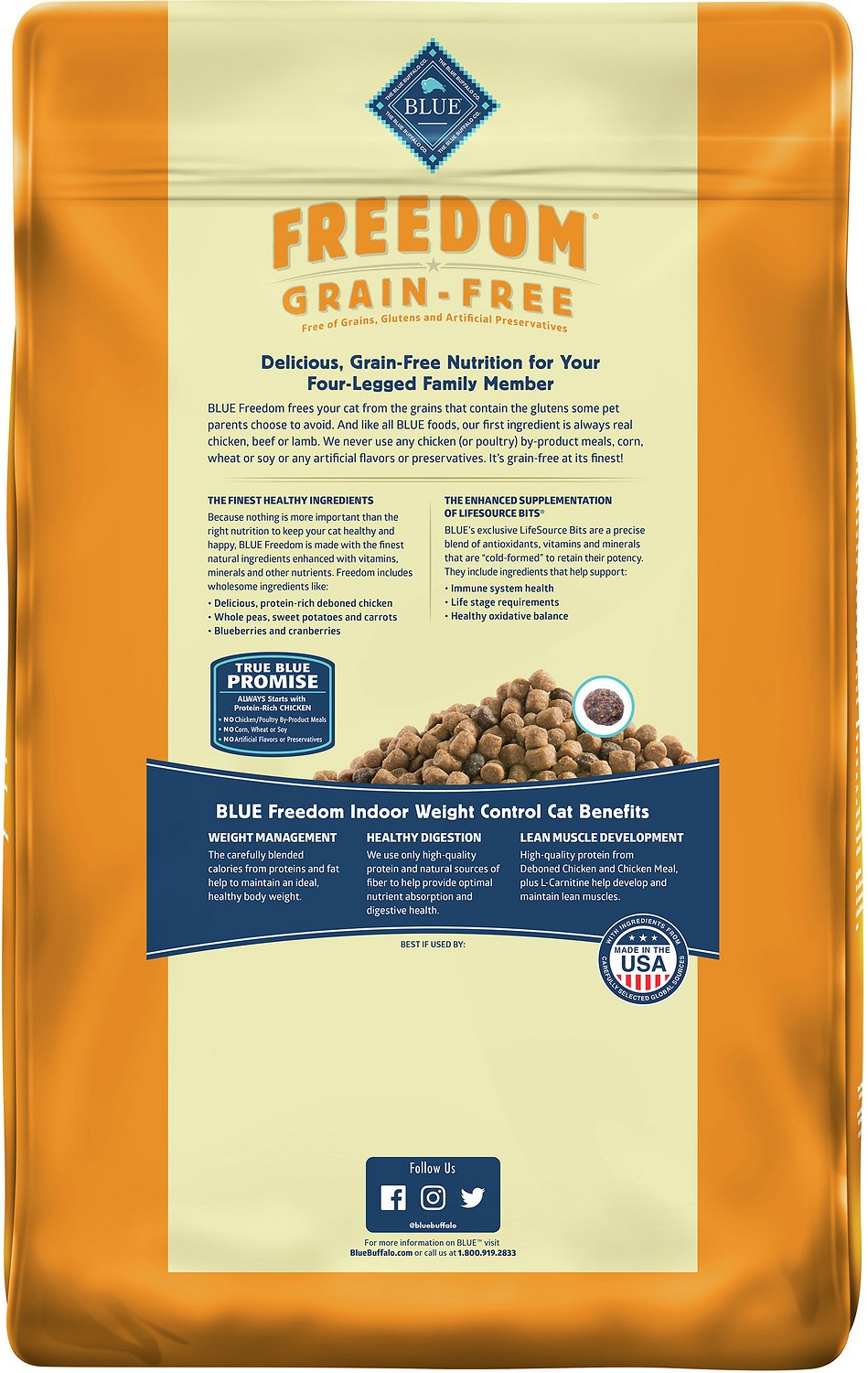 Blue Buffalo Freedom Indoor Weight Control En Recipe Grain Free Dry Cat Food
