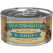 Hound & Gatos 100% Rabbit Formula Canned Cat Food, 5.5-oz, case of 24