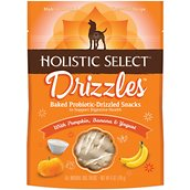 Holistic Select Drizzles Baked Snacks with Pumpkin, Banana & Yogurt Baked Dog Treats, 6-oz bag
