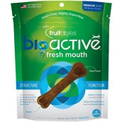 Fruitables BioActive Fresh Mouth Medium Dental Chews Dog Treats, 10-count
