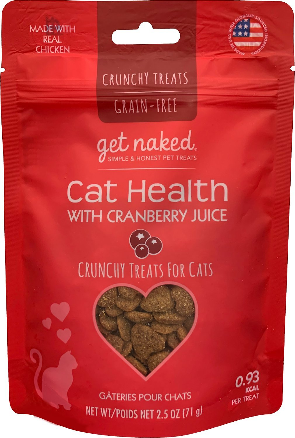 Get Naked Furball Relief Grain-Free Soft Cat Treats, 2.5
