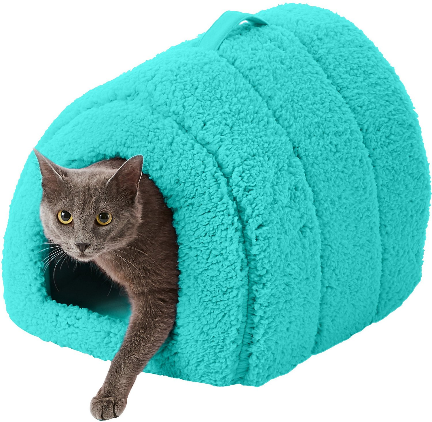 Best Friends By Sheri Sherpa Igloo Dog Amp Cat Bed Teal