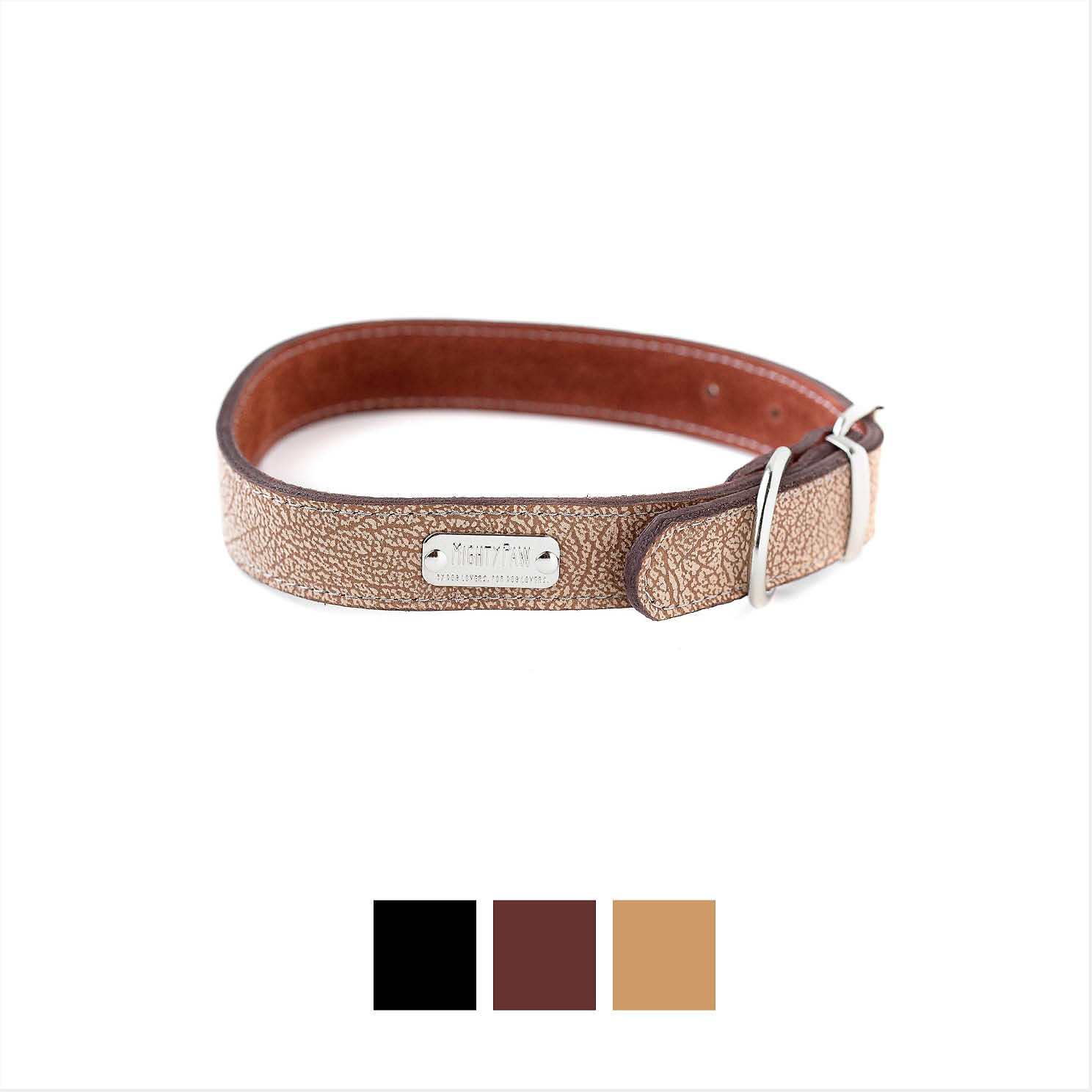 Mighty Paw Leather Dog Leash, Light Brown, Standard recommendations