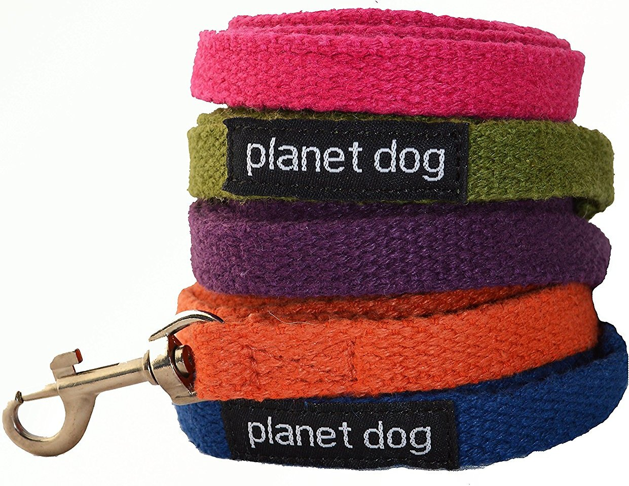 Planet Dog Hemp Dog Leash with Fleece-Lined Handle, Apple Green, Regular