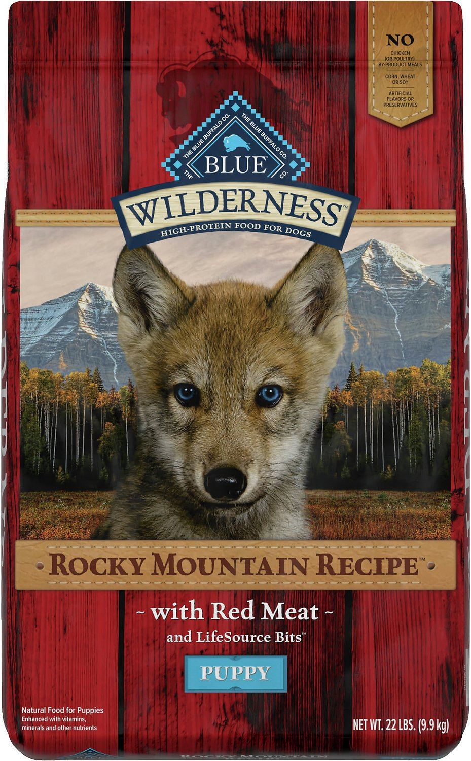 Blue Puppy Food >> Blue Buffalo Wilderness Rocky Mountain Recipe with Red Meat Puppy Grain-Free Dry Dog Food, 22-lb ...