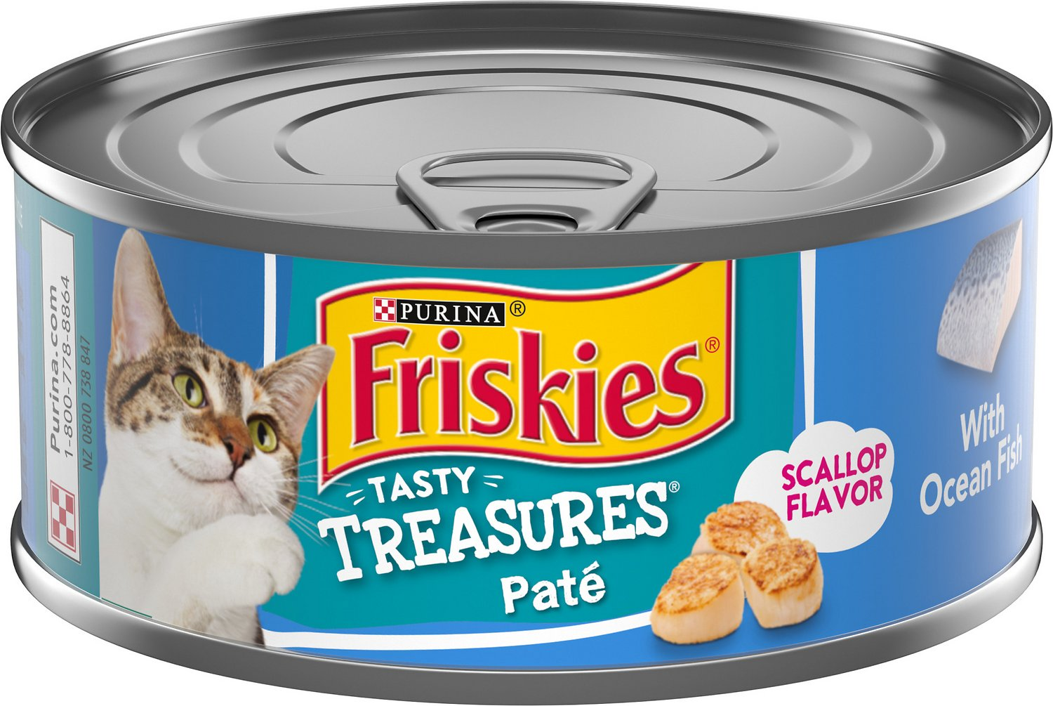 Friskies tasty treasures pate ocean fish dinner with for Friskies cat fishing