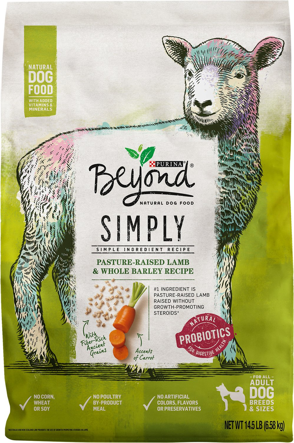 Purina Beyond Cat Food >> Purina Beyond Simply 9 Ranch Raised Lamb & Whole Barley Recipe Dry Dog Food, 14.5-lb bag - Chewy.com