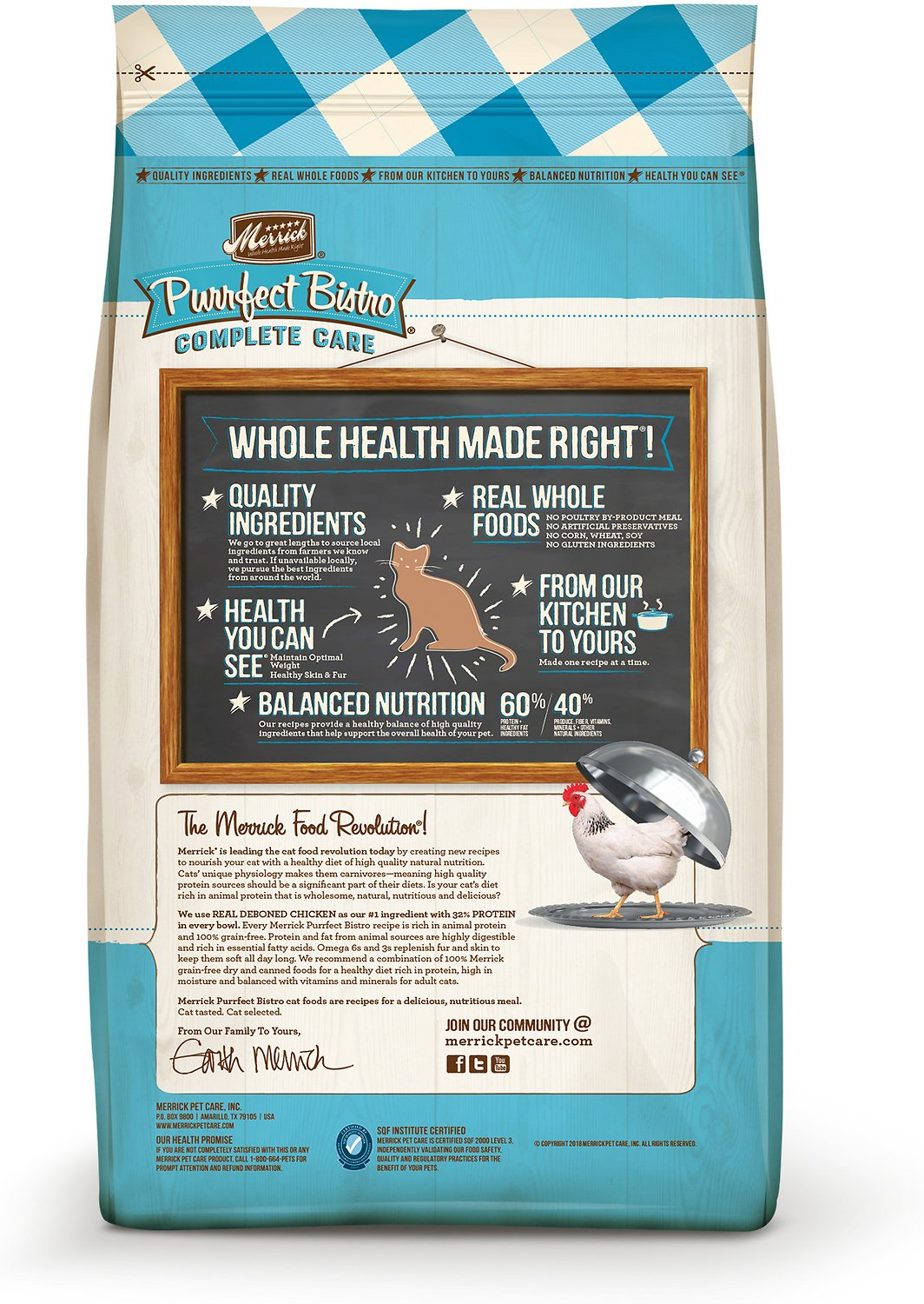 Merrick Purrfect Bistro Grain Free Healthy Weight Recipe Dry Cat Food