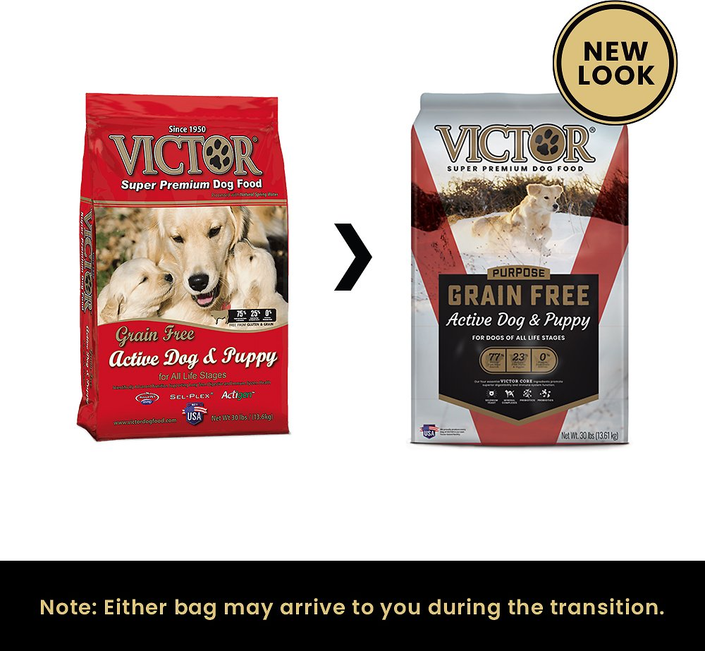 Victor Dog Food Reviews >> Victor Active Dog & Puppy Formula Grain-Free Dry Dog Food, 30-lb bag - Chewy.com