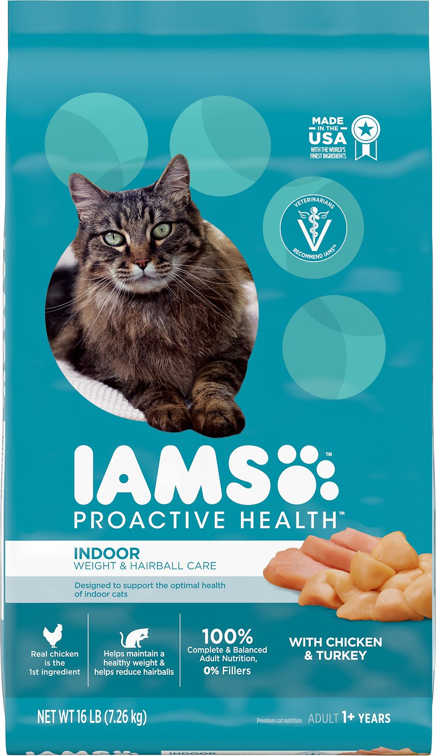 Iams Proactive Health Indoor Weight Hairball Care Dry Cat Food
