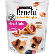 Purina Beneful Baked Delights Heartfuls with Apple Flavored Filling & Real Bacon Dog Treats, 8.5-oz bag