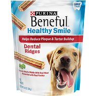 Purina Beneful Healthy Smile Large Dental Ridges Dog Treats, 7 count