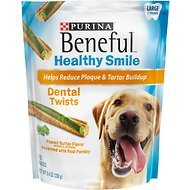 Purina Beneful Healthy Smile Large Dental Twists Dog Treats, 7 count