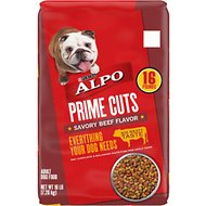 ALPO Prime Cuts Savory Beef Flavor Dry Dog Food, 16-lb bag