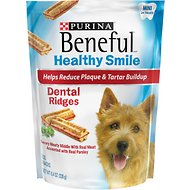 Purina Beneful Healthy Smile Mini Dental Ridges Dog Treats, 24 count
