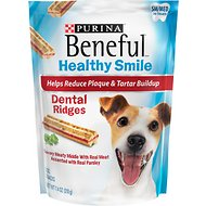 Purina Beneful Healthy Smile Small/Medium Dental Ridges Dog Treats, 10 count
