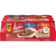 ALPO Gravy Cravers Variety Pack Canned Dog Food, 13.2-oz, case of 12