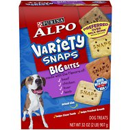 ALPO Variety Snaps Big Bites Dog Treats, 32-oz box
