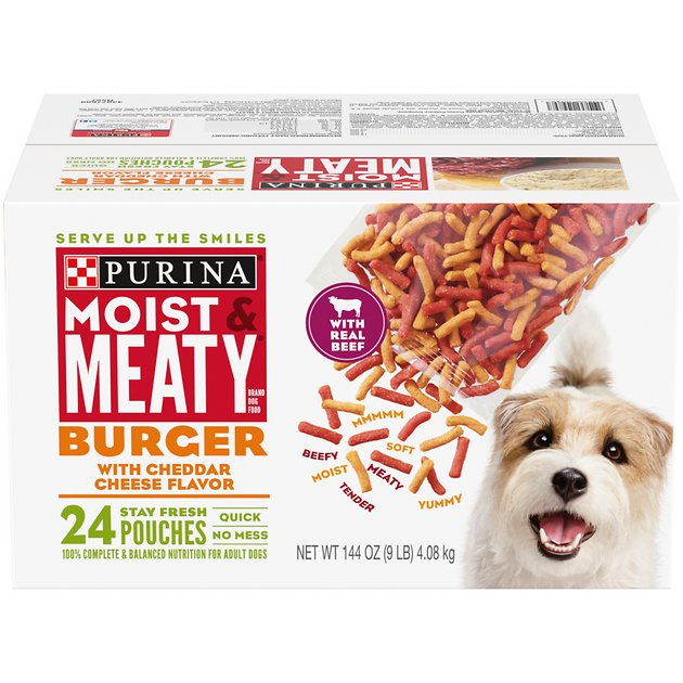 Moist & Meaty Burger with Cheddar Cheese Flavor Dry Dog ...