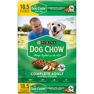 Dog Chow Complete Adult Chicken Flavor Dry Dog Food, 18.5-lb bag