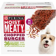 Moist & Meaty Chopped Burger Dry Dog Food, 6-oz pouch, case of 36