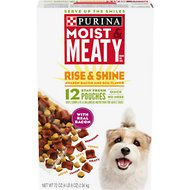 Moist & Meaty Rise & Shine Awaken Bacon and Egg Flavor Dry Dog Food, 6-oz pouch, case of 12