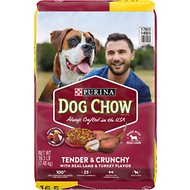 Dog Chow Tender & Crunchy with Real Lamb Dry Dog Food, 16.5-lb bag