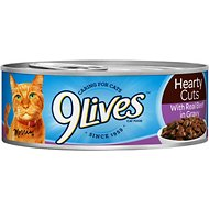 9 Lives Hearty Cuts with Real Beef in Gravy Canned Cat Food, 5.5-oz, case of 24