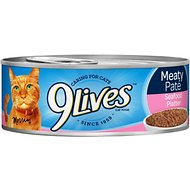 9 Lives Meaty Pate Seafood Platter Canned Cat Food, 5.5-oz, case of 24