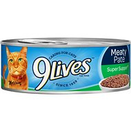 9 Lives Meaty Pate Super Supper Canned Cat Food, 5.5-oz, case of 24