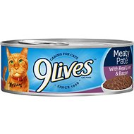 9 Lives Meaty Pate with Real Liver & Bacon Canned Cat Food, 5.5-oz, case of 24