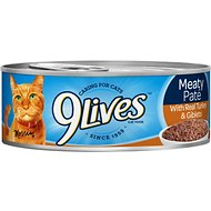 9 Lives Meaty Pate with Real Turkey & Giblets Canned Cat Food, 5.5-oz, case of 24