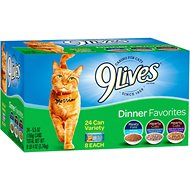 9 Lives Dinner Favorites Variety Pack Canned Cat Food, 5.5-oz, case of 24