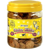 Pet Center Chicken Nibbles Dog Treats, 1-lb jar
