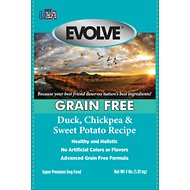 Evolve Grain-Free Duck, Chickpea & Sweet Potato Recipe Dry Dog Food, 4-lb bag