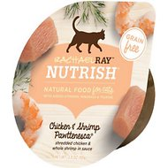 Rachael Ray Nutrish Chicken & Shrimp Pawttenesca Natural Grain-Free Wet Cat Food, 2.8-oz, case of 24