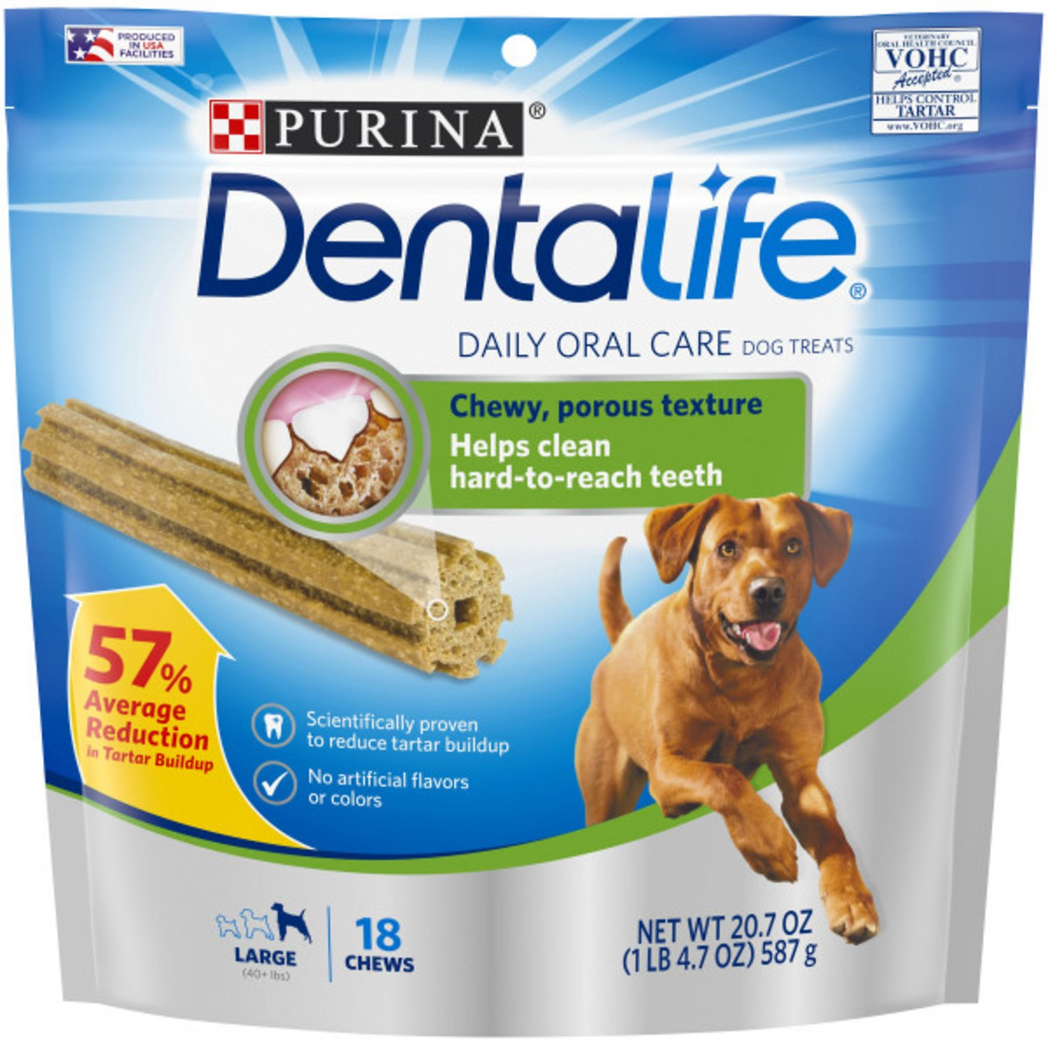 DentaLife Daily Oral Care Large Dental Dog Treats, 18 ...