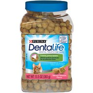 DentaLife Savory Salmon Flavor Dental Cat Treats, 13.5-oz canister