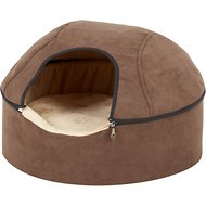 K&H Pet Products Thermo-Kitty Dome Cat Bed, Chocolate, Large