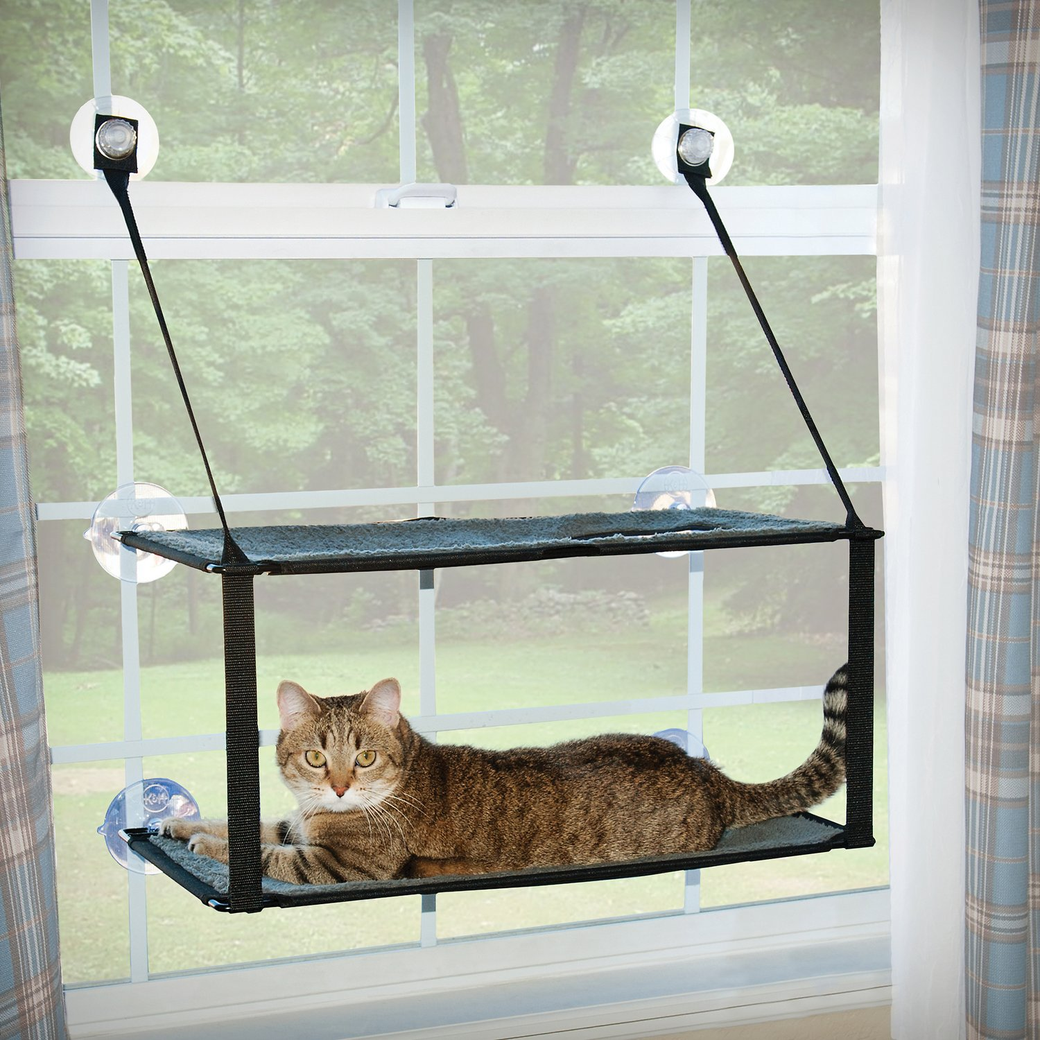 Ku0026H Pet Products Double Stack EZ Window Mount Kitty Sill, ...