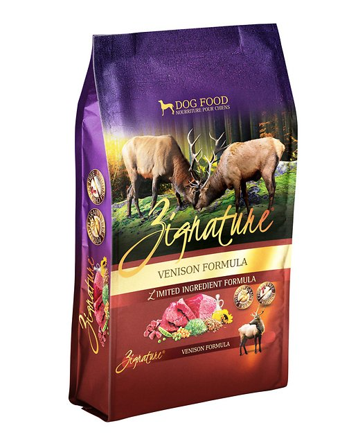 Zignature Dog Food Reviews >> Zignature Venison Limited Ingredient Formula Grain-Free Dry Dog Food, 4-lb bag - Chewy.com