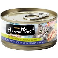 Fussie Cat Premium Tuna with Threadfin Bream Formula in Aspic Canned Cat Food, 2.82-oz, case of 24