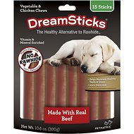 DreamBone DreamSticks Beef Chews Dog Treats, 15 count