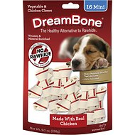 DreamBone Mini Chicken Chew Bones Dog Treats, 16 count