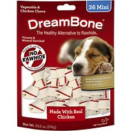 DreamBone Mini Chicken Chew Bones Dog Treats, 36 count